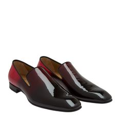 Christian Louboutin Red Dandelion patent-leather loafers for Men | Level Shoes