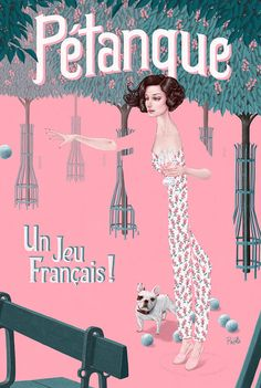 I started playing Pétanque when I lived in Paris and fell in love with it. In a kind of hidden corner in on Ile de la Cité there is Place Dauphine, where the Horse Chestnut trees bloom with pink in the spring and you can find peopl… Tom Bagshaw, Bocce Court, Chestnut Horse, Thing 1, Retro Outfits, American Artists, Framed Art Prints, Wrapped Canvas, Illustration Art