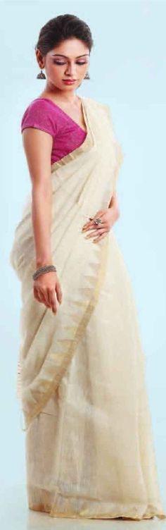 handwoven cotton saree -  original pin by @webjournal