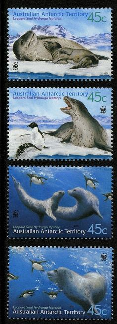 Australian Antarctic Tty 2001 Scott #L118 a-d MNH Set