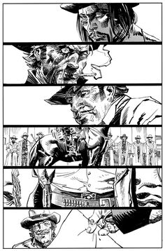 Jonah Hex by =urban-barbarian on deviantART - some really nice line work!