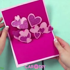 Cool Paper Crafts, Paper Crafts Origami, Diy Crafts For Gifts, Diy Arts And Crafts, Diy Origami Cards, Handmade Birthday Cards, Happy Birthday Cards, Love Cards Handmade, Creative Birthday Cards