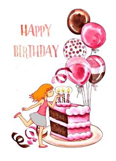 Happy birthday, soplando las velitas Birthday Treats, Happy Birthday Cakes, Birthday Board, Happy Birthday Wishes, Birthday Images, Birthday Quotes, Happy Bird Day, Happy Birthday Woman, Happy Birthday Greeting Card