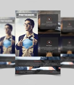Corporate Flyer Template by Addaxx on @creativemarket