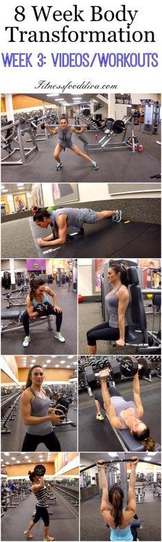 8 Week Body Transformation: Week 3 Videos/Workouts