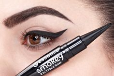 "our ""smokey khôl liner"" is a true all-rounder! it can be used as either a khôl kajal or as an eyeliner. the conic shape of the tip and the creamy texture allow a fantastic application Essence Makeup, Essence Cosmetics, Beauty Makeup, Eye Makeup, Hair Makeup, Mascara, Kajal Eyeliner, Minimal Makeup, Drugstore Makeup"