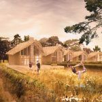 The design for the 7 villas for Texel was handed in for the building permit last week. The all wooden structures that were inspired by the Texel 'Schapenboet' are embedded in its open scenery with views over the sheep fields towards the dunes, have a 0 need for energy, as they can produce all the