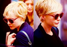 ungh. could carey mulligan and michelle williams be sisters? yes. long wavy pixie.