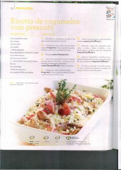 Livro 150 receitas as melhores 2011 Other Recipes, Rice Recipes, Healthy Recipes, Kitchen Time, Tasty, Yummy Food, Yummy Appetizers, Paella, Carne