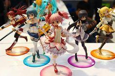 Puella Magi Madoka Magica PVC Figures  Via Team Onii-chan! Figure Display - http://on.fb.me/ZRMO2P