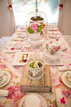 Memorable Tea Party For Bridal Shower Ideas