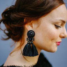 Exaggerate Women Ethnic Vintage Earrings Beads Long Fringe Earrings Handmade Indian Jewelry Tassel Drop Earrings Pendientes