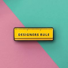 Designers Rule: Quirky pin badge is both practical and aesthetically pleasing | Creative Boom
