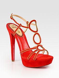 Christian Louboutin - Troisronds Suede and Chain Platform Sandals