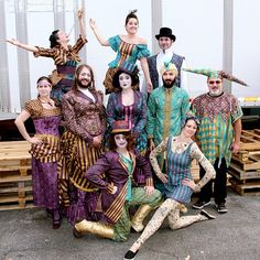 Circus costumes at Spoonflower HQ