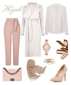 """Hijab "" by selena-styles-ibtissem23 ❤ liked on Polyvore featuring Topshop, Frame Denim, Boohoo, Dorothy Perkins, Chanel, Forzieri, Michael Kors and Kendra Scott"