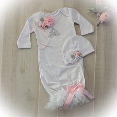 Newborn Girl Take Home Princess Outfit Newborn by PoshBabyBlooms