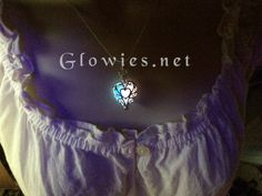 Magically infused with glowing pink and blue glow in the dark frozen heart necklace unique handmade design by Monique Lula the original Glow Lockets ® designer and creator. Delicately and professionally handmade by Monique Lula in my smoke free jewelry studio in California, USA! The little glowies store that started the whole trend!