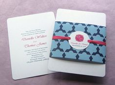 Mexican Moroccan Tile Wrap Invitation