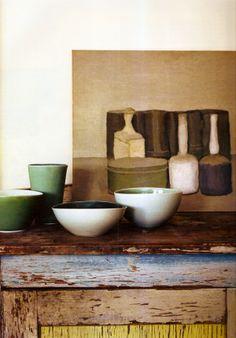 Morandi painting and bowls