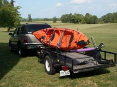 have a 5x10 utility trailer that I converted to a kayak trailer. I used Yakima Control Towers, Thule cross bars and J-style carriers, and th...