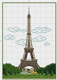 Eiffel Tower with clouds /2: