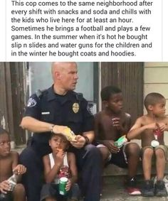 His Instagram is Tasha Davis go follow his page and watch his videos he is really dedicated to being a great cop and a great role model for these kids and it's amazing to see. The world needs more of Officer Norman!