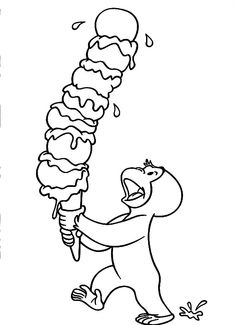 Curious George Free Printable Coloring Pages
