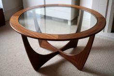 Retro G Plan Vintage Teak 1960's Circular Coffee Side Table Astro Mid Century