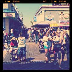 Boardwalk in Ocean City, MD. It's a classic.Walked this boardwalk for hrs.every night,checkin out guys.
