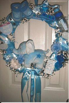 Little Boy Blue ~ Baby Wreath/Keepsake  Beautiful for Nursery or Hosptital Door in place of standard baby Mum