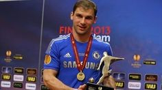 """Man of the match Branislav Ivanović was in the mood you might expect of a player who had scored an added-minute winner in a major European final. The Chelsea FC defender's looping header gave the London team a 2-1 victory against SL Benfica at the Amsterdam ArenA, a """"massive moment"""" for player and club alike. David Luiz, who was used in midfield, had sympathy for his ex-colleagues at Benfica, but praised Chelsea manager Rafael Benítez for his impact at Stamford Bridge."""