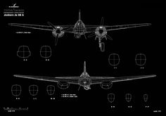 Asisbiz article Artwork by Kagero blue print 1.72 scale Junkers Ju 88 A 1 0A