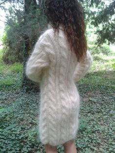 This unique handmade sweater / dress is made to give you pleasure and makes you feel comfortable and stylish.It is suitable for any occasion.With this lovely sweater / dress you will feel beautiful at any time – in everyday life, at work,at home,visit with friends and relatives,in