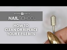 Rachella Beeksyoung nails · YN NAIL SCHOOL - HOW TO CLEAN OR REPLACE YOUR E- FILE BITS - YouTube