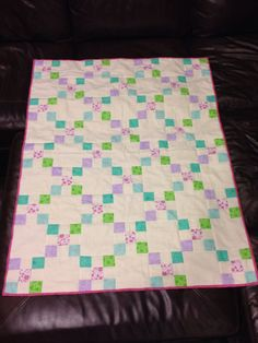 Baby quilt for my soon to be here niece. Ella Bronson.