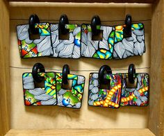 Polymer Clay earrings by Mareike Scharmer| Flickr - Photo Sharing!