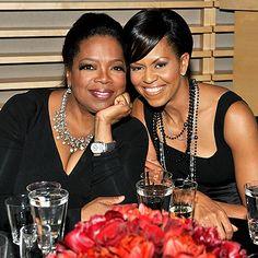 Oprah Winfrey and Michelle Obama...2 most inspiring beautiful black women!