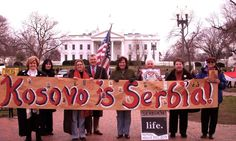 """Demonstrations in Washington, DC to let the White House know to whom Kosovo belongs.  At least in our minds and hearts it will never be captured.  Kosovo is Serbian.  Kosovo is SERBIA. There can be no Serbian history without Kosovo.  Even Goethe said:  """"The Serbian Legends are 2nd to none, not even the German Wunderkind."""""""