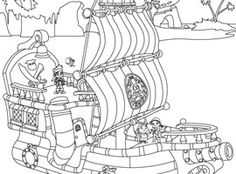 Peter Pan Jake And The Neverland Pirates Colouring Pages  Pirate