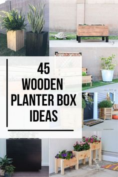 These DIY wooden planter box ideas and easy to build and will spruce up your curb or backyard! Get lots of inspiration to build your own wooden planters! #diyoutdoorplanter #woodplanter #AnikasDIYLife