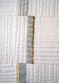 White Modern Fringe Quilt - Denyse Schmidt