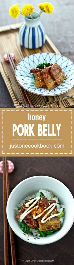 Honey Pork Belly | Easy Japanese Recipes at JustOneCookbook.com