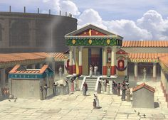 Reconstruction of the Temple of Isis. This small and almost intact temple was among one of the first discoveries during the excavation of Pompeii in 1764. Many scenes from the temple are re-created in the dining rooms of Pompeians, indicating that many individuals visited it. #Pompeii