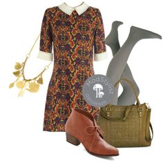 """Antique Aesthetic Dress"" by modcloth on Polyvore"