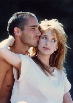 Jean-Marc Barr and Rosanna Arquette in The Big Blue.