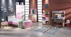 sypialnia 4interiors, dzieci, dziecko, różowe łóżko