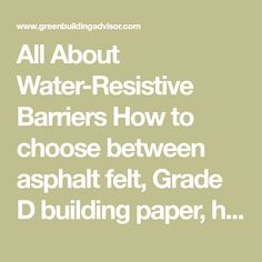 13 Best Water Resistive Barrier (WRB) images in 2018
