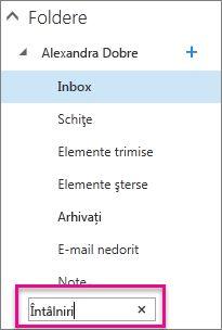 Tastați un nume pentru folder