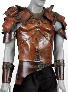 Celtic Warrior Deluxe Leather Armor walnut Handcrafted, genuine leather LARP armor
